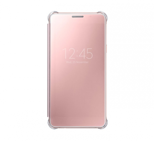 Clear View Cover Case to Galasy 2016 Pink