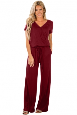 Wine Casual Lunch Date Jumpsuit LC64388
