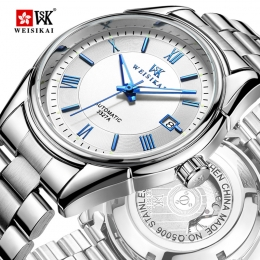 Weisikai leisure men's classic mechanical watch waterproof Rome calendar automatic mechanical watches wholesale