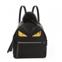 Bag Bugs mini nylon and fur backpack