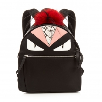 Bag Bugs nylon and fur backpack