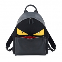 Monster Eyes Leather/Nylon Backpack