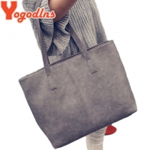 women bag 2017 fashion women leather handbag brief shoulder bags gray /black large capacity luxury handbags women bags design