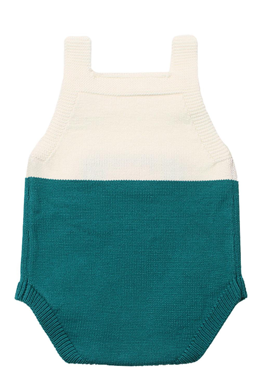 薄荷绿小老鼠棉针织婴儿紧身衣裤 TZ18044