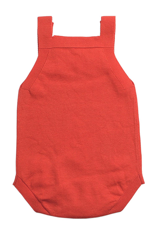 橙色星形图案针织婴儿连身衣婴儿服装 TZ18034