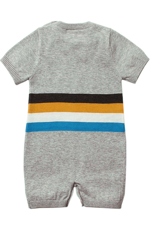 灰色可爱的害羞太阳图案针织T恤婴儿哈衣 TZ18041
