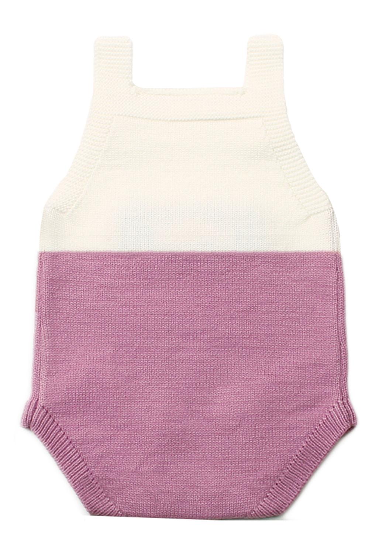 淡紫色小老鼠棉针织婴儿紧身衣裤 TZ18044