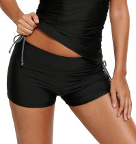 黑色宽腰游泳裤