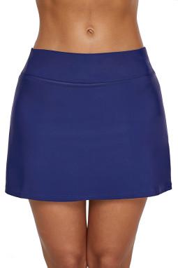 深蓝色裙式比基尼泳裤