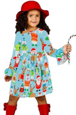 假日朋友圣诞节小女孩连衣裙