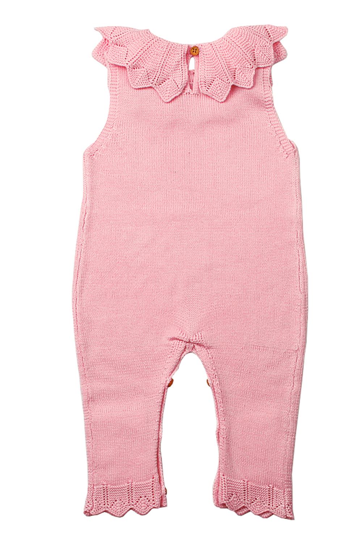 粉红色的颈环荷叶边中性婴儿连身裤 TZ18048