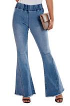 经典复古仿旧喇叭牛仔裤