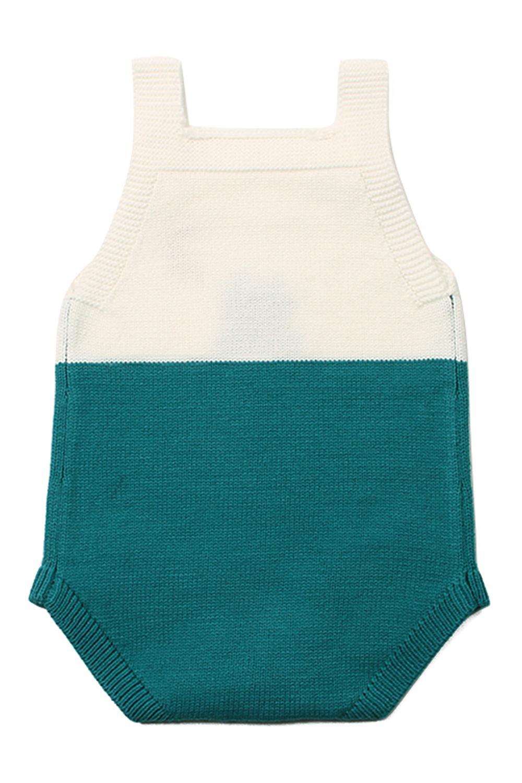 绿色月亮下的猫棉针织婴儿紧身衣裤 TZ18045