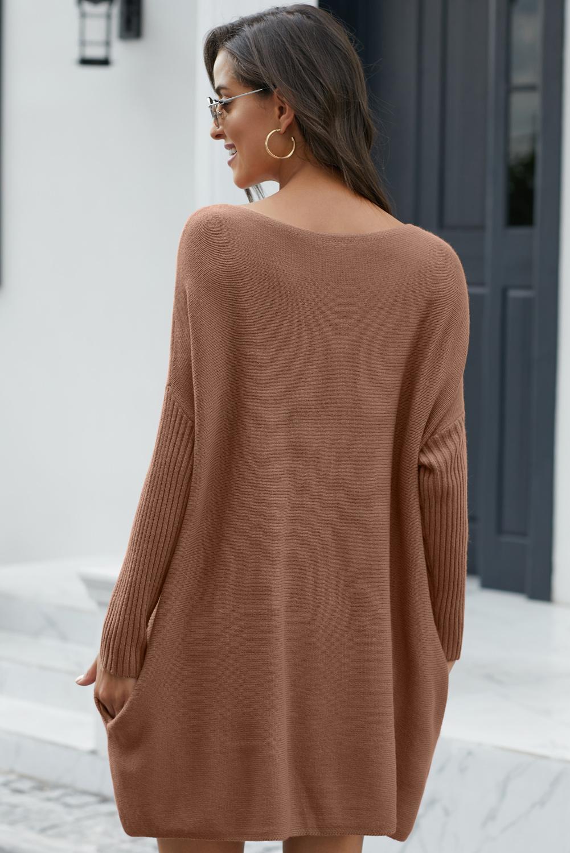 时尚超大款蝙蝠袖毛衣连衣裙 LC270072