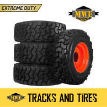 Single Bobcat Orange Bolt Hole Extreme Duty Rim/Wheel for 12-16.5 Skid Steer Tir