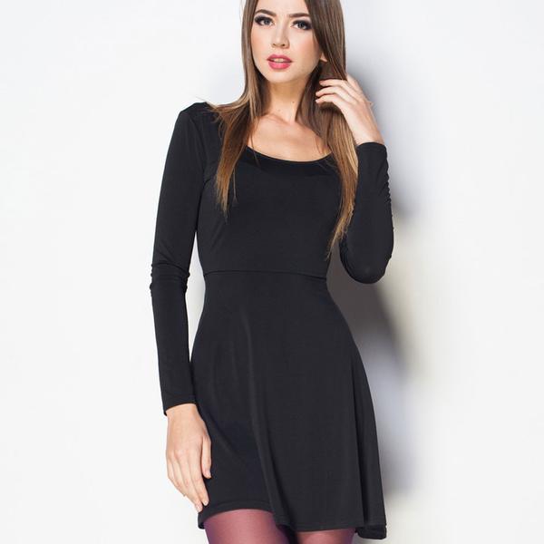black silk evening dress